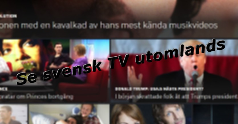 se svensk tv utomlands online